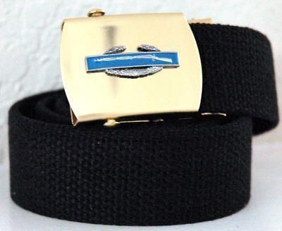 US Army CIB Badge Emblem Black Belt and Buckle