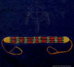 Cherry Horn Hairpipe w/ Turquoise & Brass Choker image 2