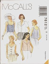 McCall's 7612 Size D 12,14,16 Misses' Tops (Blouses) - $8.33