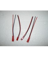 2 JST CONNECTOR SETS MALE/FEMALE 4 INCH LEAD US... - $5.29