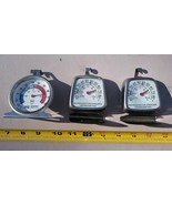 7FF72 REFRIGERATOR THERMOMETERS, 3 PCS, -20F TO 80F, GOOD CONDITION - $17.77