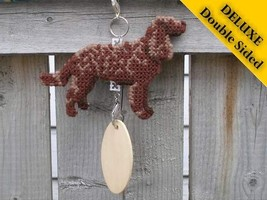 American Water Spaniel Deluxe crate tag, hang anywhere, show dog agility... - $30.00