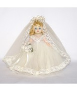 "Madame Alexander #435 8"" BRIDE Blonde Doll 1974 Vintage in Box - $32.99"