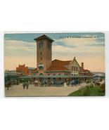 D L & W Railroad Depot Horse Buggies Binghamtom New York 1910c postcard - $7.43