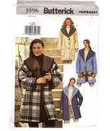 Butterick 3596 Misses' Reversible Jacket Coat w/ Shawl Collar Fast & Eas... - $14.47