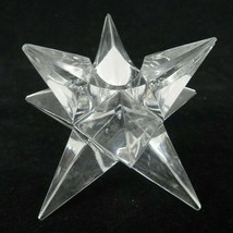 "Rosenthal Crystal 9 Pointed Star Candle Holder Signed 2.25"" Small Tip Chip - $23.50"