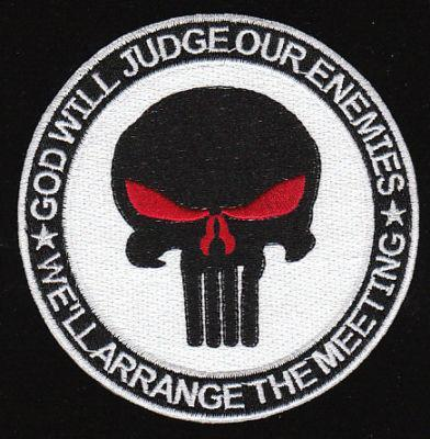 US Navy SEAL God Will Judge Our Enemies, We'll Arrang the Meeting Patch White