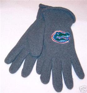 Florida Gators Mens Lightweight Grey Fleece Gloves NWT Bonanza
