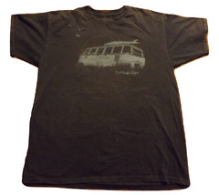 VW bus camper van Soul Surfer Safari spilt screen surf board blue tshirt... - $16.99