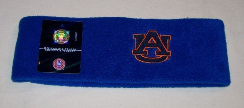 Auburn Tigers Blue Fleece Headband NWT Bonanza