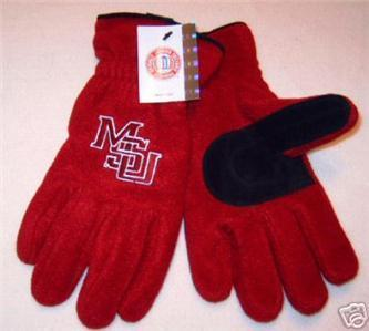 Mississippi State Univ. MSU Mens Lined Fleece Gloves L Bonanza