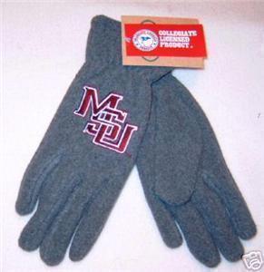 Mississippi State MSU Ladies Lightweight Fleece Gloves Bonanza