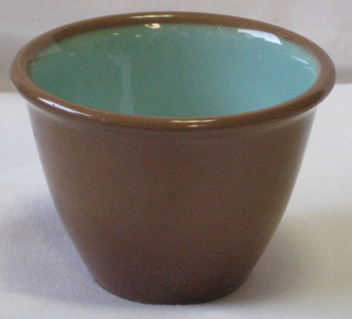Taylor Smith Taylor Chateau Buffet Ramekin/Custard Cup-USA Turquoise/Cinnamon