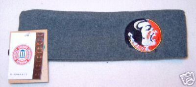 Florida State Seminoles Grey Fleece Headband NWT Bonanza