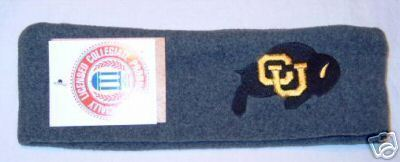 Colorado University Buffalos Grey Fleece Headband NWT Bonanza