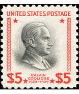 1938 $5 Calvin Coolidge, 30th President Scott 834 Mint F/VF NH - $85.00