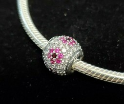 PANDORA Sterling Silver and CZ Charm - Stamped PANDORA 925 ALE - $21.78