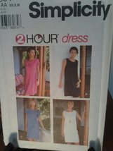 Simplicity Pattern 9591 Two hour dress from 1996, New Uncut & Factory Fo... - $5.99
