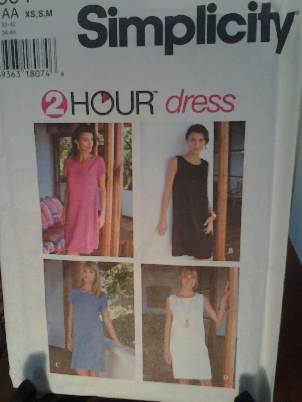 Simplicity Pattern 9591 Two hour dress from 1996, New Uncut & Factory Folded