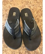TEVA MUSH II Sandals Men's Sz 10 Drizzle Gray Soft Cotton Canvas Flip Flop - $20.30