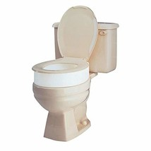 Carex Toilet Seat Riser, Round Raised Toilet Seat Adds 3.5 inches to Toilet Heig