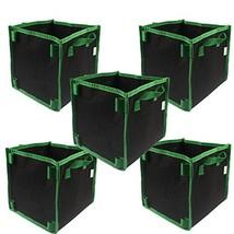 Casolly 5-Gallon Square Aeration Fabric Pot Planting Grow Bag w/Green Ha... - ₹1,615.16 INR