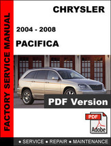 CHRYSLER PACIFICA 2004 2005 2006 2007 2008 FACTORY SERVICE REPAIR FSM MA... - $14.95
