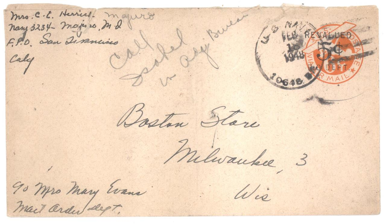 Revalued airmail