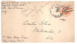 Air Mail Stamped Envelope revalued 5 cents over 6 cents Scott UC 10 - $1.99