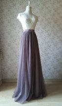 Maxi Full Tulle Skirt High Waisted Floor Length Tulle Skirt Wedding Tulle Skirt  image 4