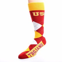 NCAA USC Trojans Argyle Unisex Crew Cut Socks - One Size Fits Most - $10.95