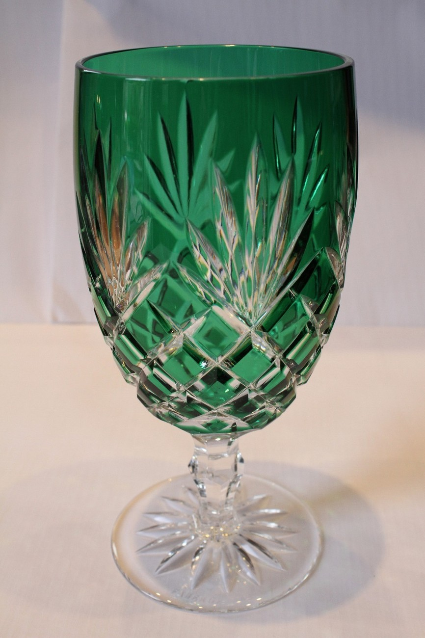 Primary image for    Faberge  Odessa  Emerald Green Crystal Water or Ice Tea Glass