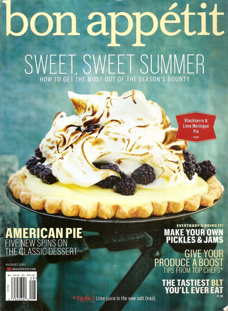 Primary image for BON APPETIT  AUGUST 2011