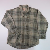 Vintage Woolrich Medium Green Plaid  Long Sleeve Shirt - $12.19