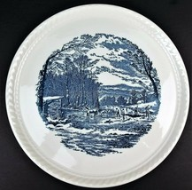 Currier & Ives Cake Plate Winter in the Country Getting Ice Royal China ... - $8.56