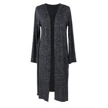 Hello Mello Carefree Threads Long Cardigan-Medium Black - $29.99
