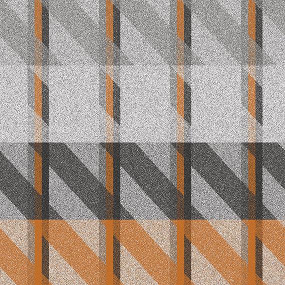 1 yds Camira Upholstery Fabric Landscape Contact Orange Plaid Wool LDC01 PR
