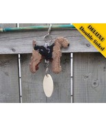 Airedale Terrier Deluxe crate tag 2 sided, hang anywhere show dog agilit... - $24.00