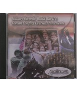 Military Records World War II & Korean Conflict Overseas Interments Ance... - $19.99