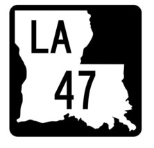 Louisiana State Highway 47 Sticker Decal R5773 Highway Route Sign - $1.45+