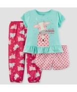 Carter's Just One You Girls Cow  3 Piece Pajamas 12M-5T  NWT - $13.99