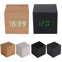 Square Wooden LED Alarm Thermometer Date Vioce Touch Activated Clock - $22.99