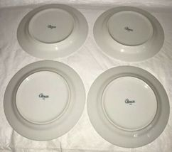 WINDSOR Gibson China Christmas Green Red Checked Rocking Horse Salad Plates (4) image 3