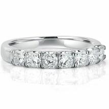 7 Stone Diamond Ring 1.28Ct Radiant Cut F-VS Wedding Womens Band 18k Whi... - £2,142.45 GBP