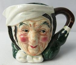 "VTG Hal-Sey Fifth Ave Japan 3"" Tall Jester Toby Jug Mug Creamer Old Woman - $20.00"
