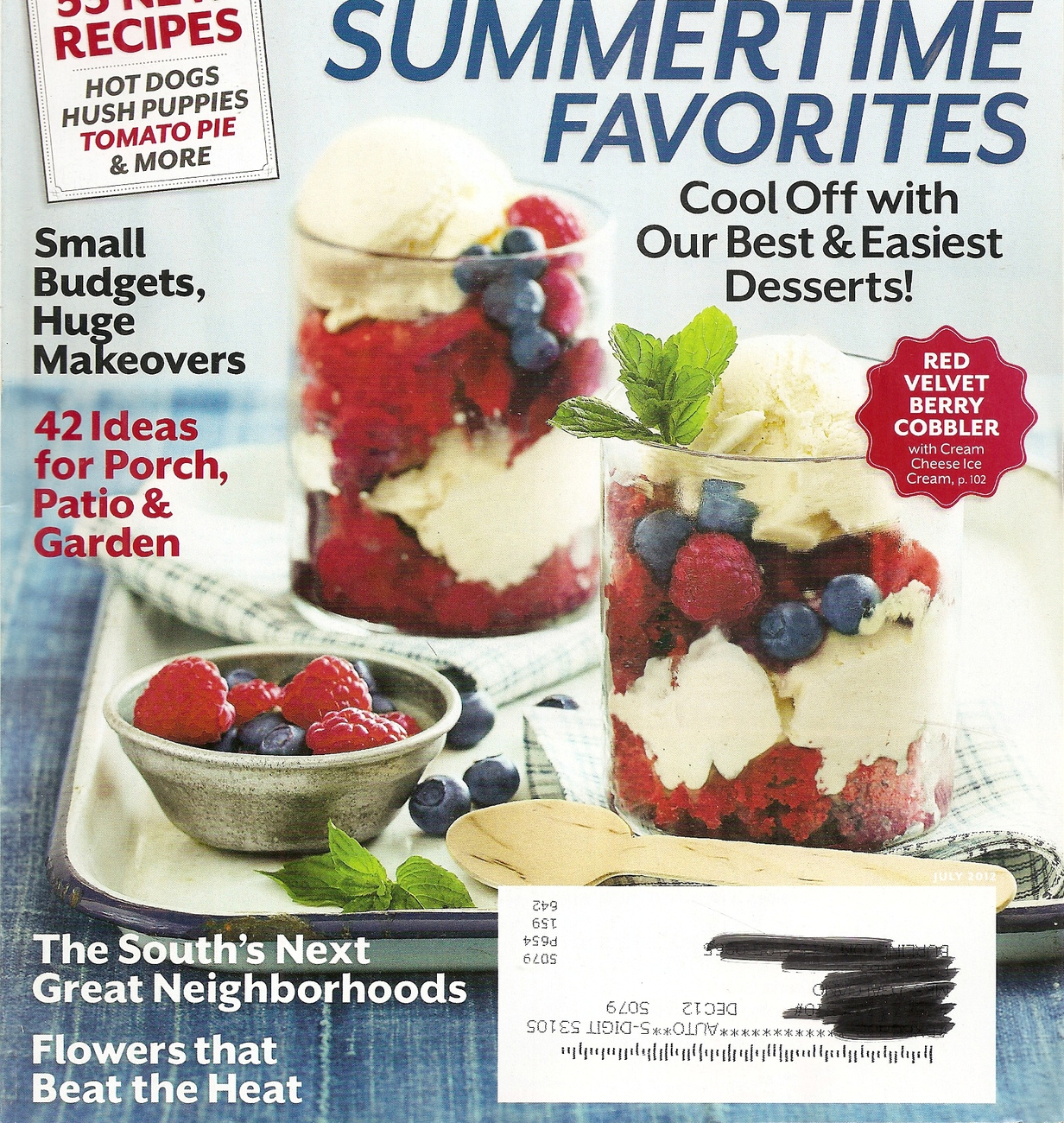 Primary image for SOUTHERN LIVING  JULY 2012