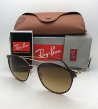 Nuovo Ray-Ban Occhiali da Sole RB 3546 9009/85 52-20 Marrone e Oro Frame W/ - $219.52