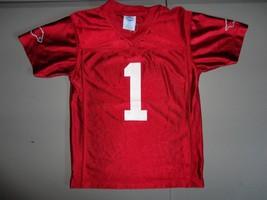 Red NCAA College Football #1 Arkansas Razorbacks Screen Jersey Youth 8-1... - $18.80