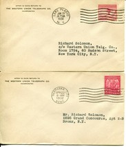 USA #716 #717 FDC First Day Cover Western Union Telegraph Postage Collec... - $12.00