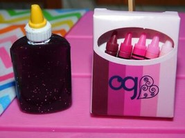 Our Generation School Office Supplies Glue Crayons fits American Girl Doll Lot - $8.90